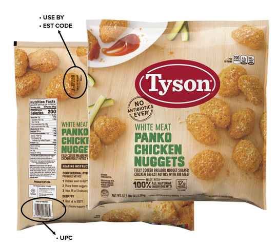 Tyson Foods, Inc. recalls 36,000 lbs of chicken nuggets