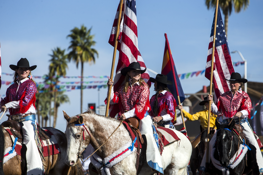 Parade participants on horseback are pictured during the 65th Annual Parada del Sol Parade on Feb. 10, 2018, in Scottsdale.