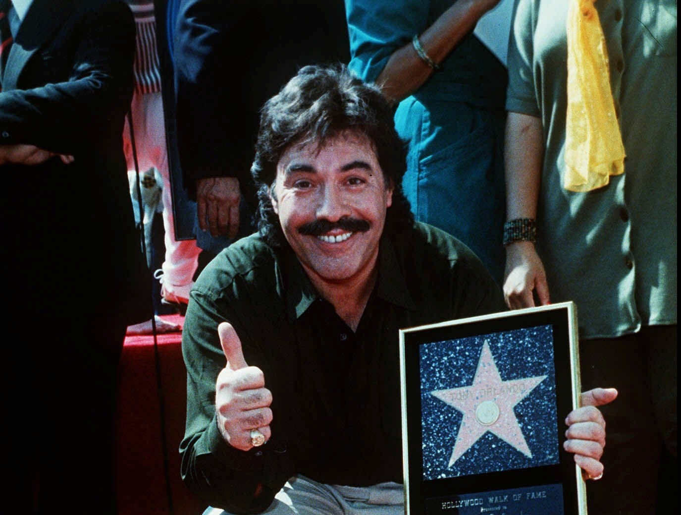 Tony Orlando gets a star on the Hollywood Walk of Fame on March 21, 1990.