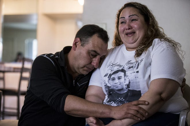 Juan Antonio Arce and Sandra Gonzalez, parents of Antonio Arce, speak during an interview at their home in Tempe on Jan. 29, 2019. Antonio, 14, was shot and killed by Tempe police on Jan. 15, 2019.