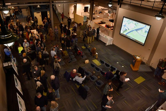 The York County Economic Alliance and Buchart Horn host a public open house to unveil plans for improvements to the Codorus Creek and surrounding areas through the city, Tuesday, January 29, 2019. John A. Pavoncello photo