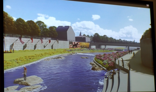 An animated image of what the Codorus Creek could look like after a massive makeover. The plans for the revitalization were shown to the public an open house on January 29, 2019.