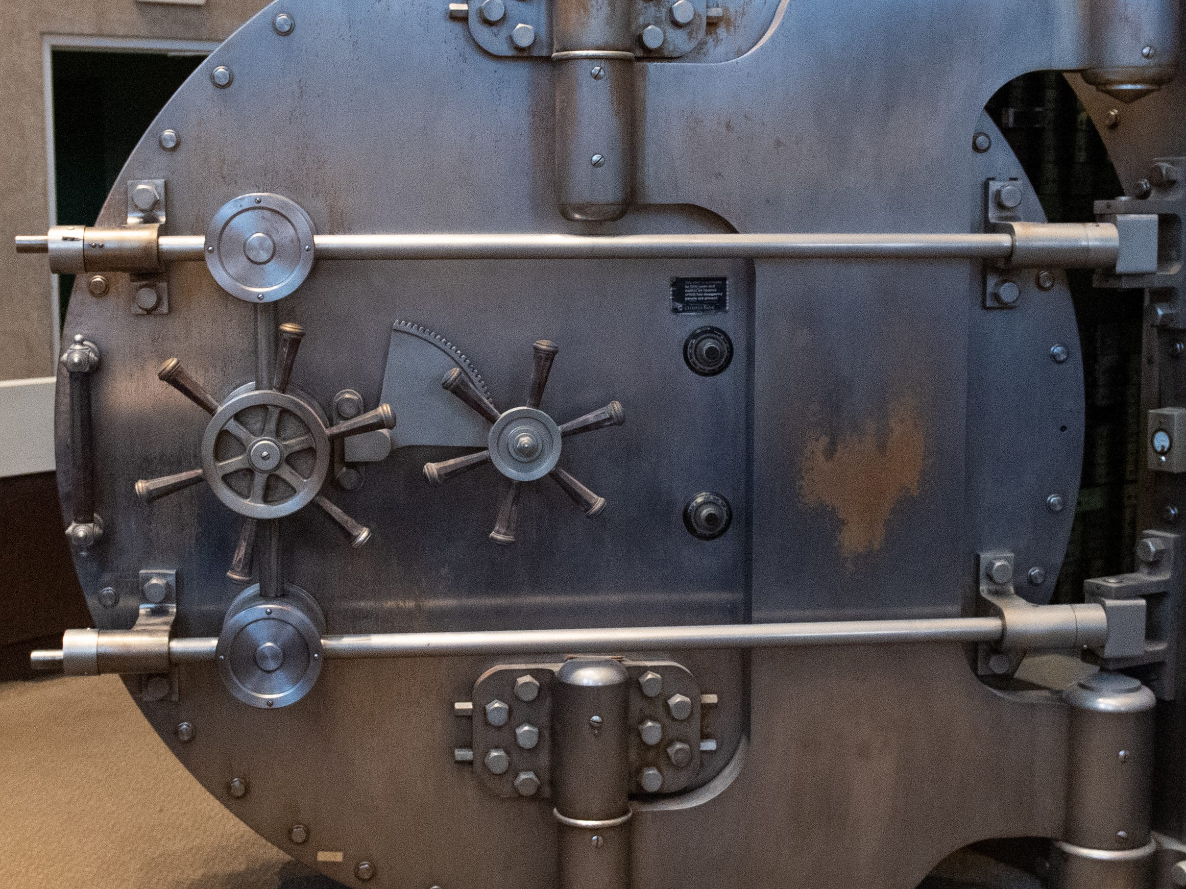 """The owners like the look of the vault and feel it adds to the decor of """"The Treasury"""", January 29, 2019."""