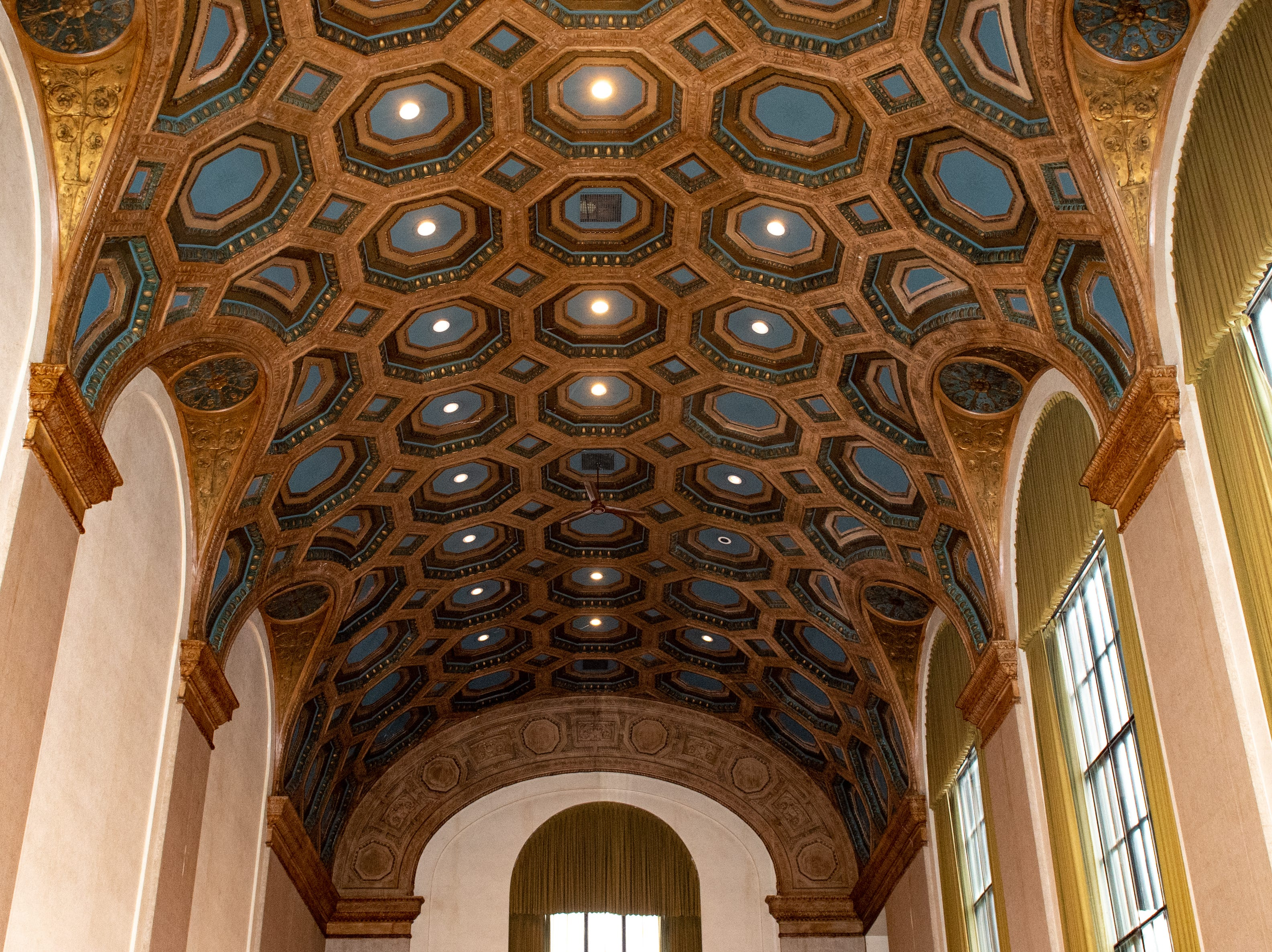 The ceiling will be refurbished as part of the redevelopment, January 29, 2019.