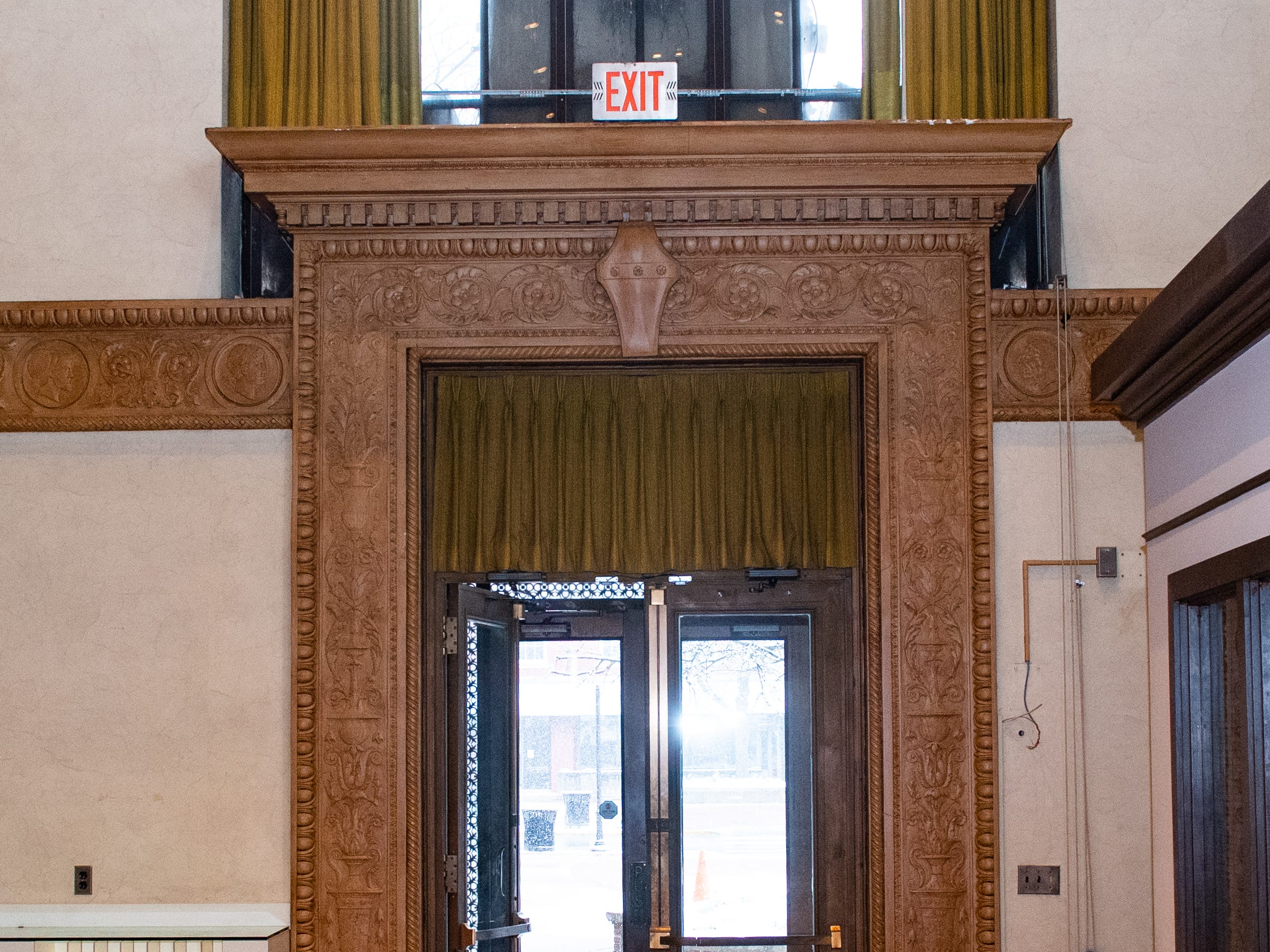 The front door will be refurbished as well, January 29, 2019.