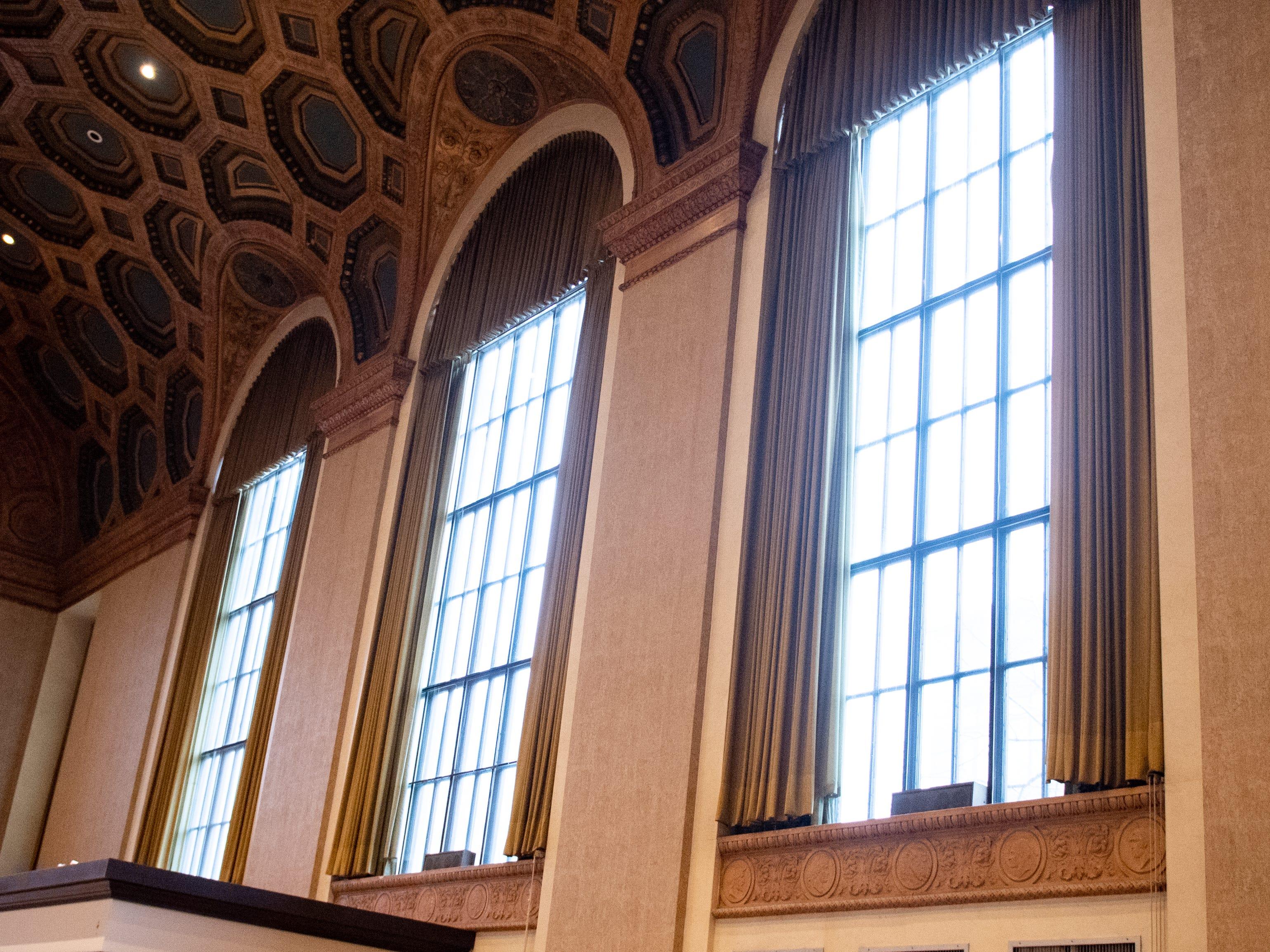 The windows will be repainted in the refurbishing effort, January 29, 2019.