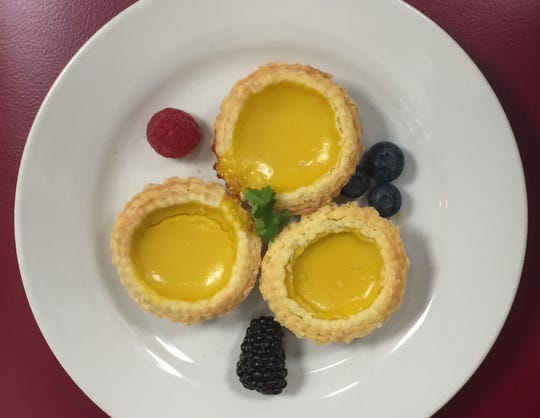 Dan ta egg custard tarts from Kwok's Bistro 2019 Chinese New Year dinner celebrating the Year of the Pig.