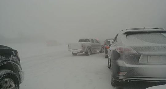 Cars have been at a standstill on the Thruway since 2:15 p.m., according to Stephen Silkey.