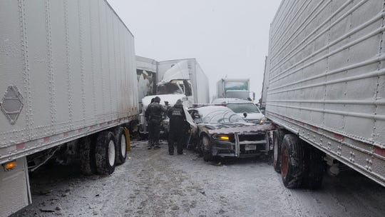Truckers ticketed in 19-vehicle Thruway crash