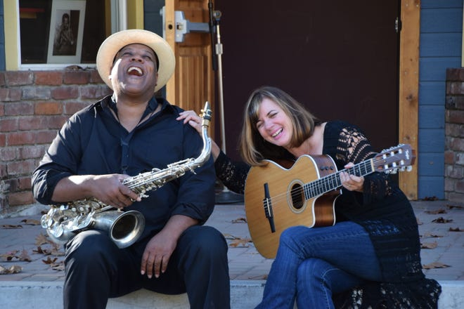 Jazz duo Allison and Victor play a Valentine's Day concert at Vintage Public House Thursday night.