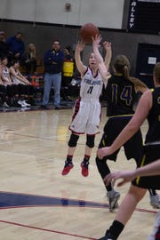 Central Valley junior guard McKenzie Cassingham shoots a jump shot.