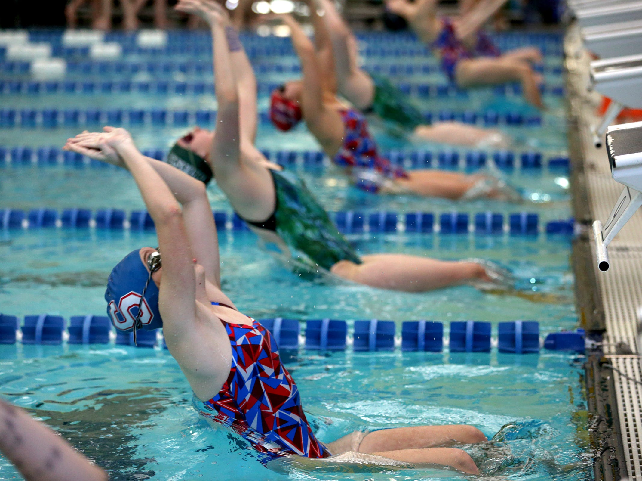 South Salem High School's swim team hosts a dual meet against West Salem at the Kroc Center on Tuesday, Jan. 29, 2019.