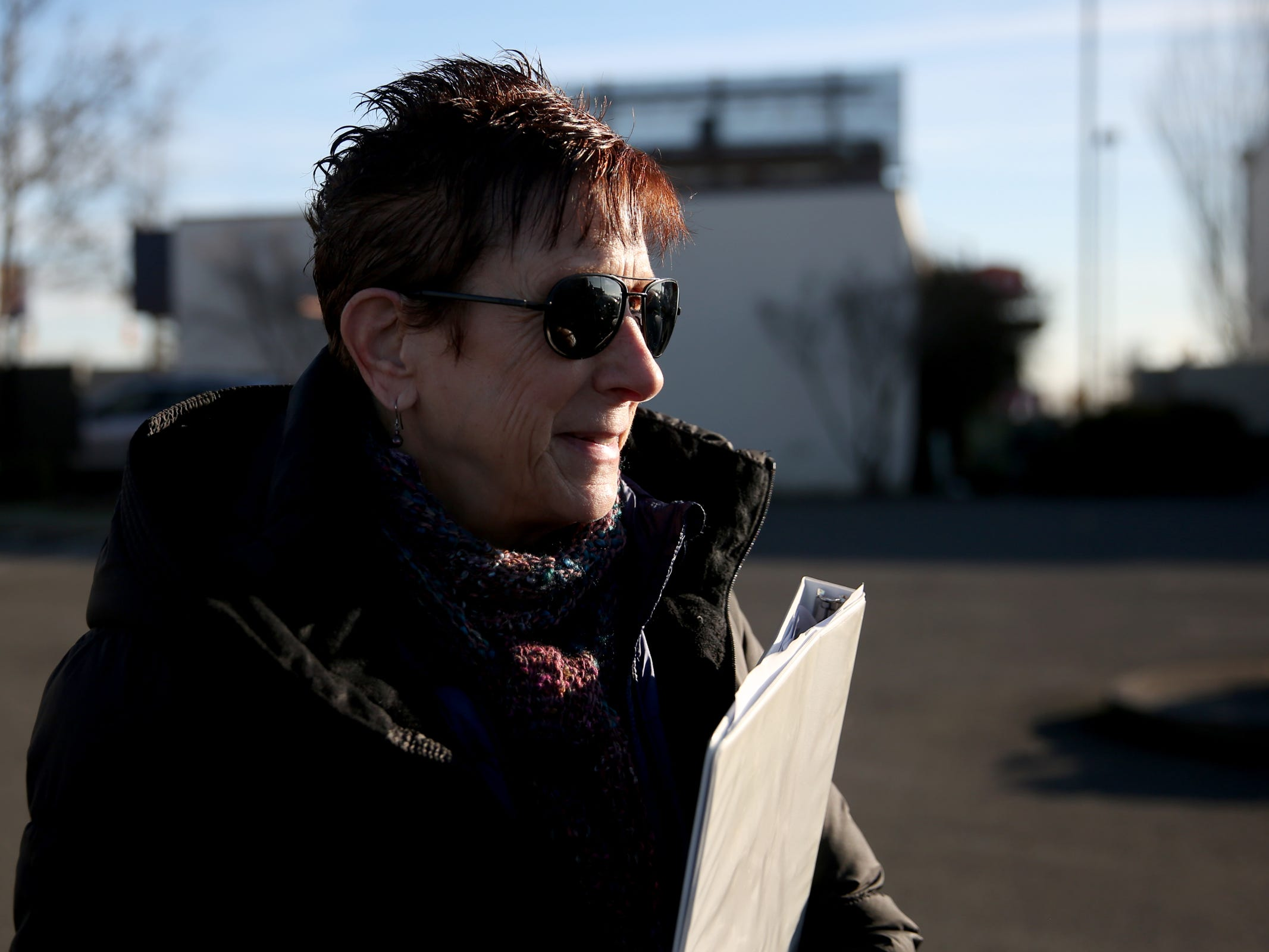 Pamella Watson volunteers during the annual Point-in-Time homeless count in Salem on Wednesday, Jan. 30, 2019. The number of people counted helps local programs qualify for federal funds to combat homelessness.