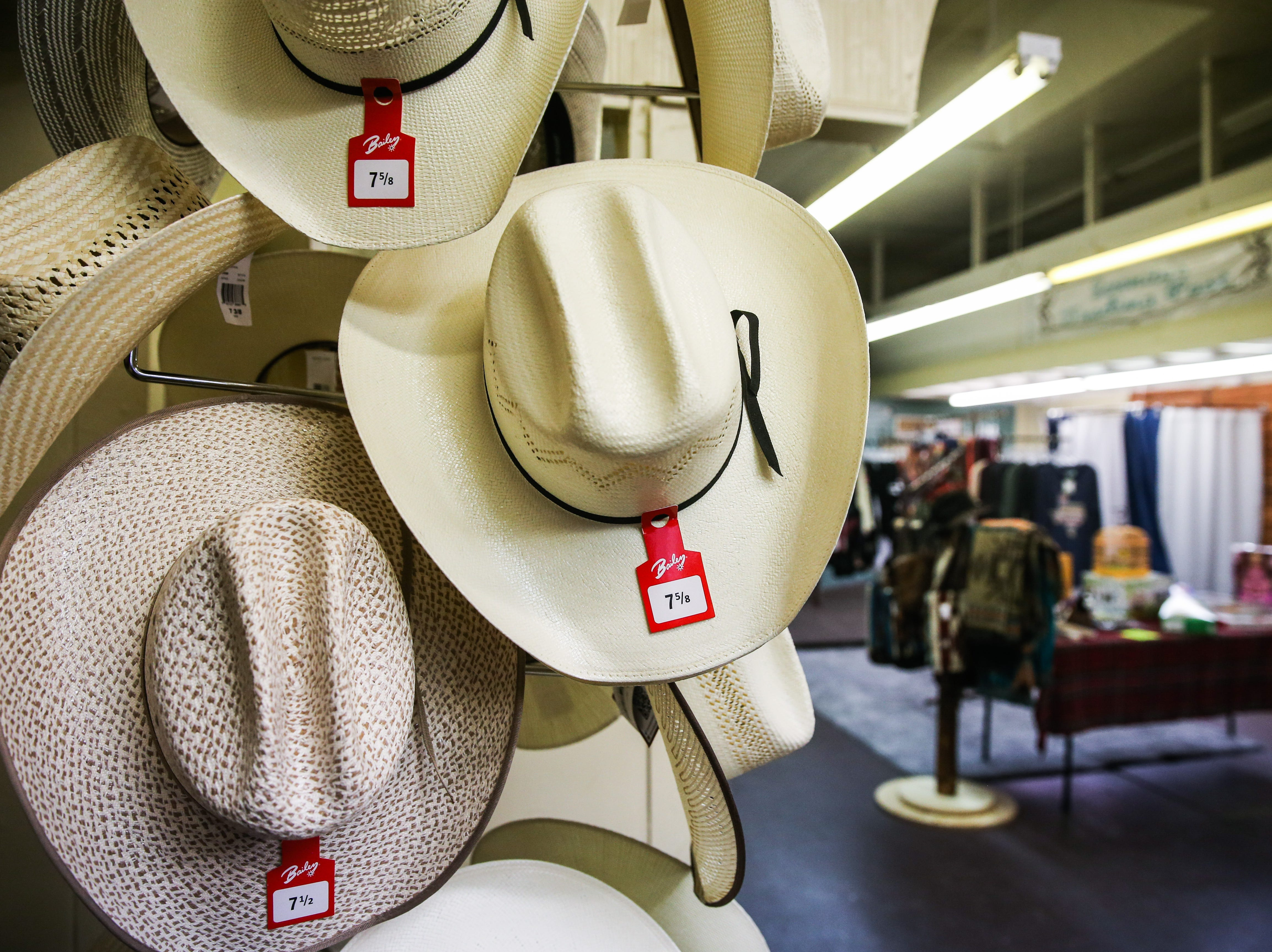 Western hats on display at Serenity's Trading, 8 E. ConchoAve.