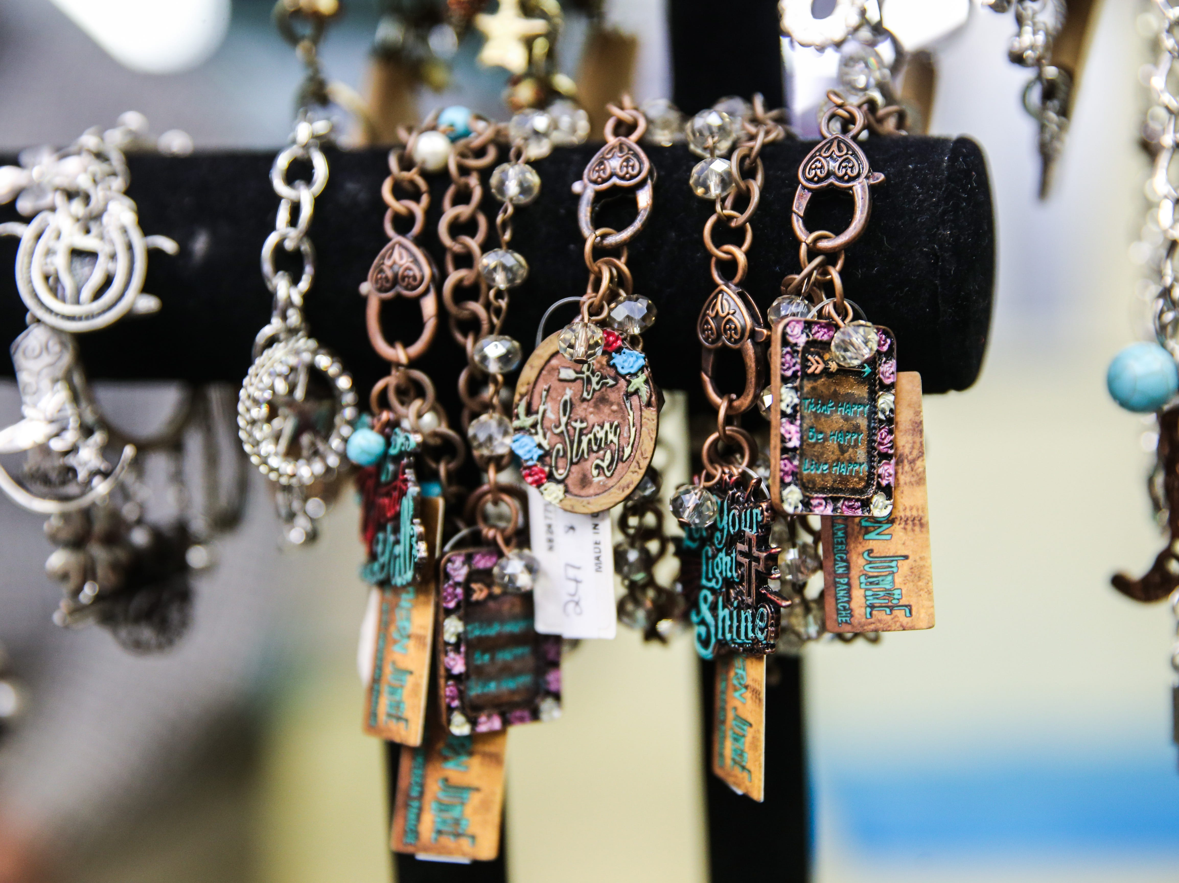 Jewelry on display at Serenity's Trading, 8 E. ConchoAve.