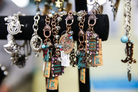 Jewelry on display at Serenity's Trading, 8 E. Concho Ave.