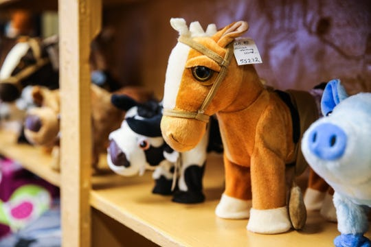 Accessories and toys are on display at Serenity's Trading, 8 E. ConchoAve.