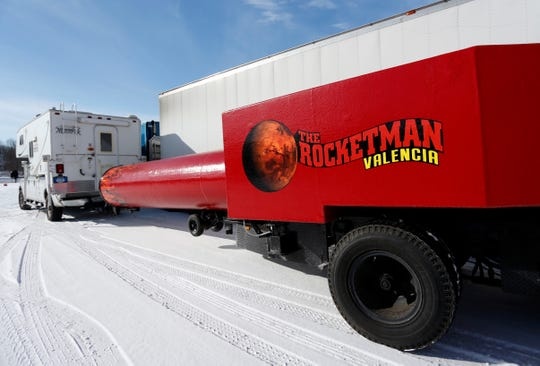 The Rocketman launcher at the George and Brett Carden International Circus headquarters.