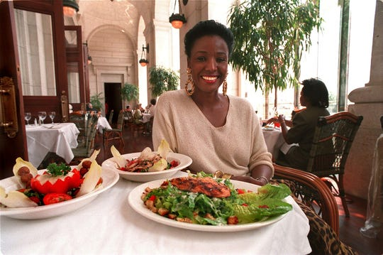 Smith poses at her restaurant, B. Smith's, in Washington, D.C.'s Union Station in this 1994 photo. The restaurant endured for nearly 20 years, closing in 2013, not long after Smith's diagnosis.