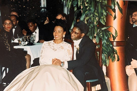 B. Smith and Dan Gasby's December 1992 wedding was held at the New York location of her restaurant. In the years that followed, the couple worked together on a television show, magazine and servingware line.