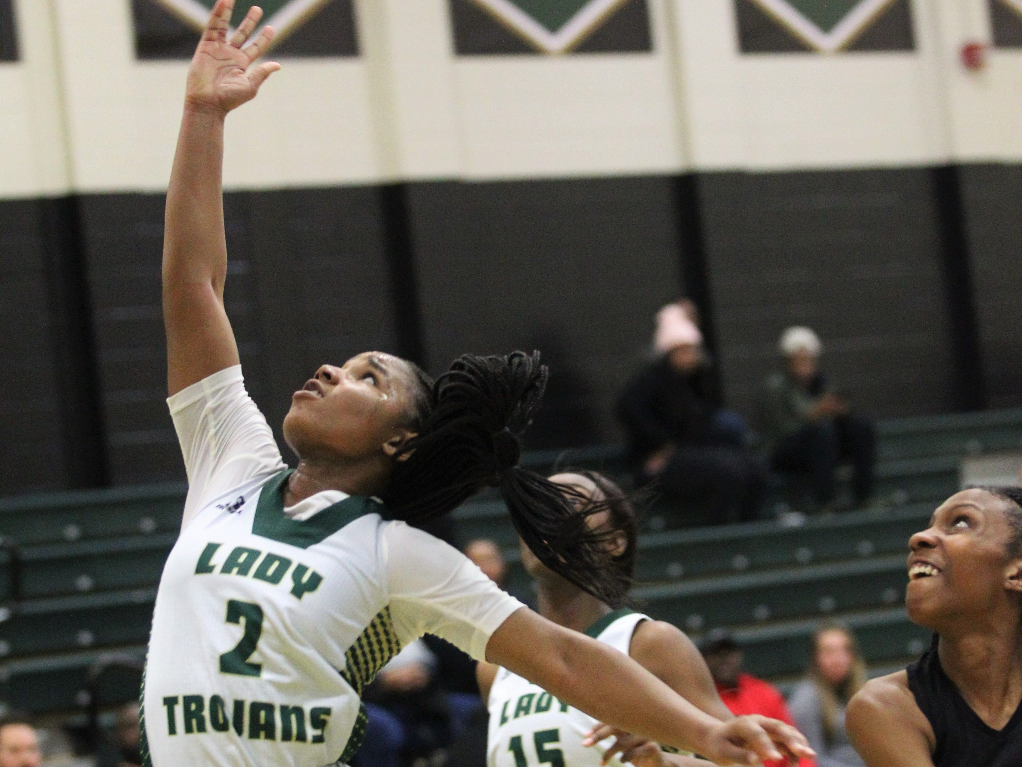 Lincoln's Erin turral scored 41 points as Lincoln's girls basketball team beat Godby 67-32 on Jan. 29, 2019.
