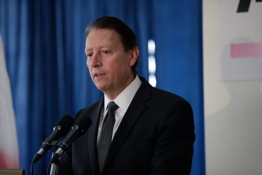 Senate President Bill Galvano speaks during the Associated Press legislative planning session held at the Capitol Wednesday, Jan. 30, 2019. Gov. Ron DeSantis, House Speaker Jose Oliva, Attorney General Ashley Moody, Senate Democratic Leader Audrey Gibson, House Democratic Leader Kionne McGhee, Chief Financial Officers Jimmy Patronis and Agriculture Commissioner Nikki Fried also made appearances at the event.