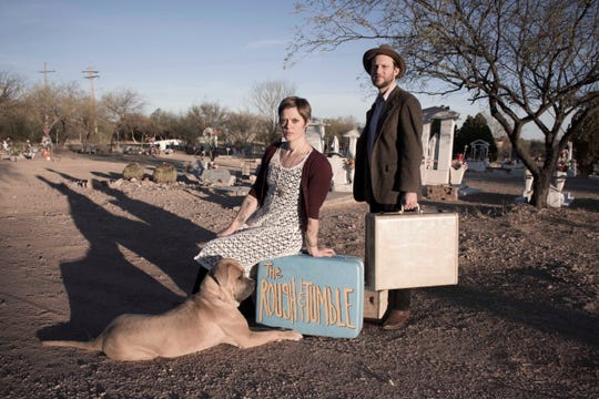 """The members of Rough & Tumble are self-proclaimed """"dumpster-folk, thrift store-Americana duo."""""""