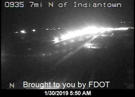 Crash with injuries reported early Jan. 30, 2019, on Interstate 95 in Martin County.