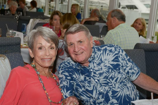 """Sue and Paul Dasso at the """"Sunday in Key West"""" Luncheon & Auction benefit for the A.E. Backus Museum & Gallery in Fort Pierce."""
