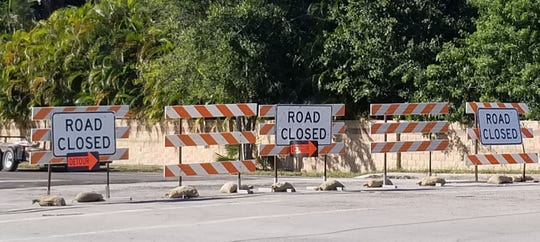 Road closed signs have been a common sight along 58th Avenue in Indian River County.
