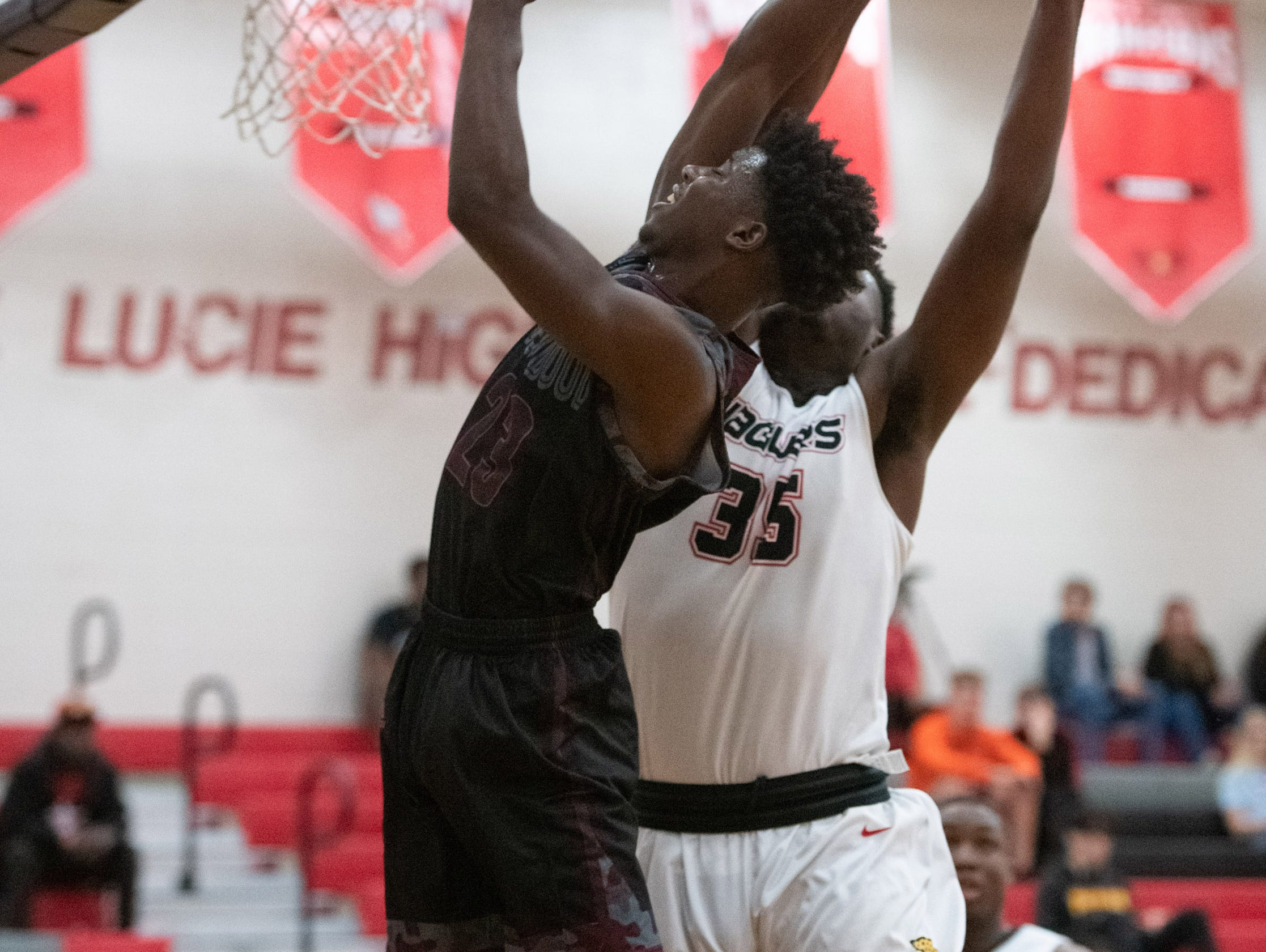 Port St. Lucie plays against Fort Pierce Westwood during the high school boys basketball game Tuesday, Jan. 29, 2019, at Port St. Lucie High School.