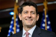Former Speaker of the House Paul Ryan speaks on March 11.