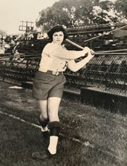 Margaret Wigiser also played for the Parichy Bloomer Girls, part of the National Girls' Baseball League, in the late 1940s.