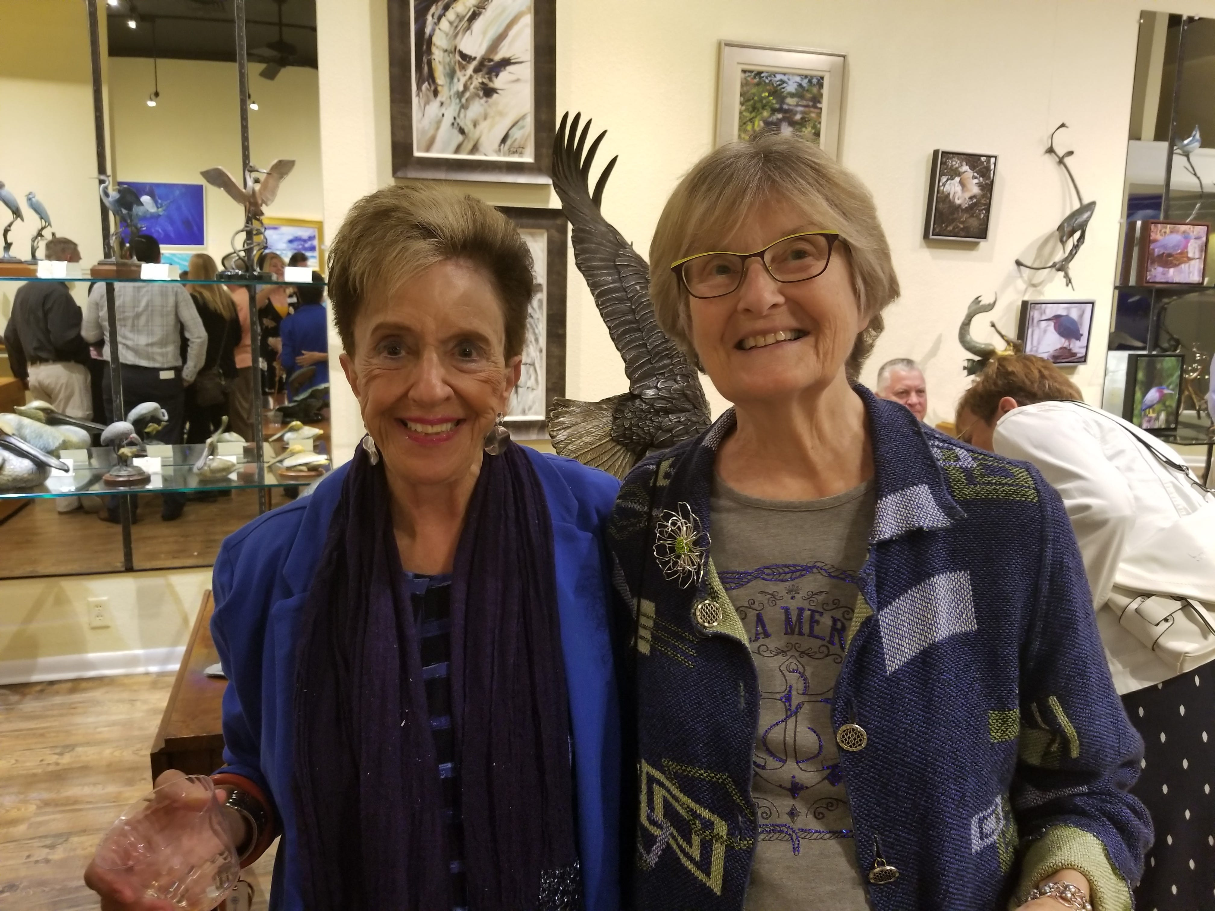 """Ethel Christin and Marie Campbell at Geoffrey Smith Gallery before a performance of the smash Vegas hit """"The Bronx Wanderers"""" at Stuart's Lyric Theatre. Tykes & Teens partnered with theLyric Theatre and Geoffrey Smith Gallery to host a rocking evening of fun for Tykes & Teens supporters."""