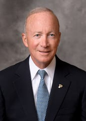 Mitch Daniels, president of Purdue University and former governor of Indiana.