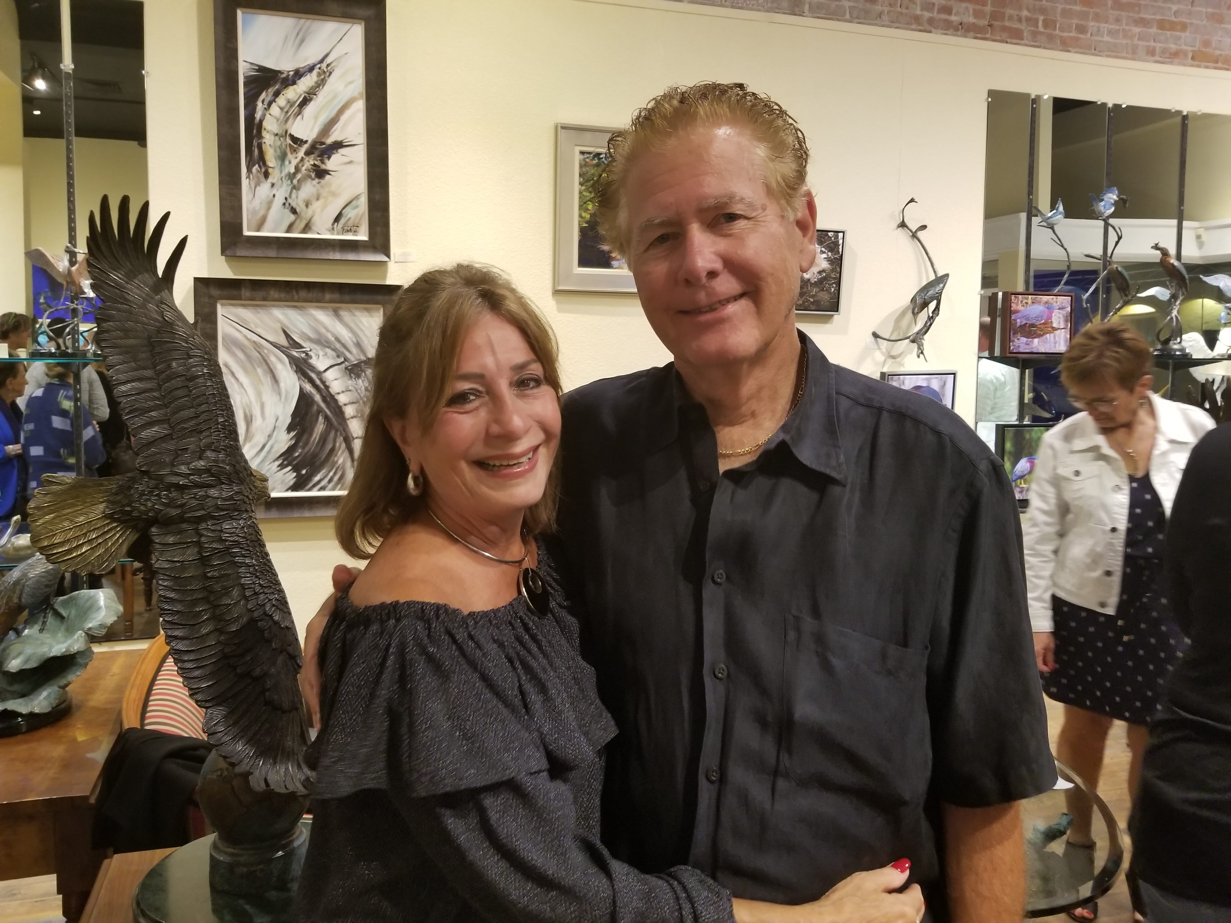 Tykes & Teens recently partnered with Stuart'sLyric Theatre and Geoffrey Smith Gallery to host a rocking evening of fun for Tykes & Teens supporters. Pictured are Lorett and Gerry Fribourg.