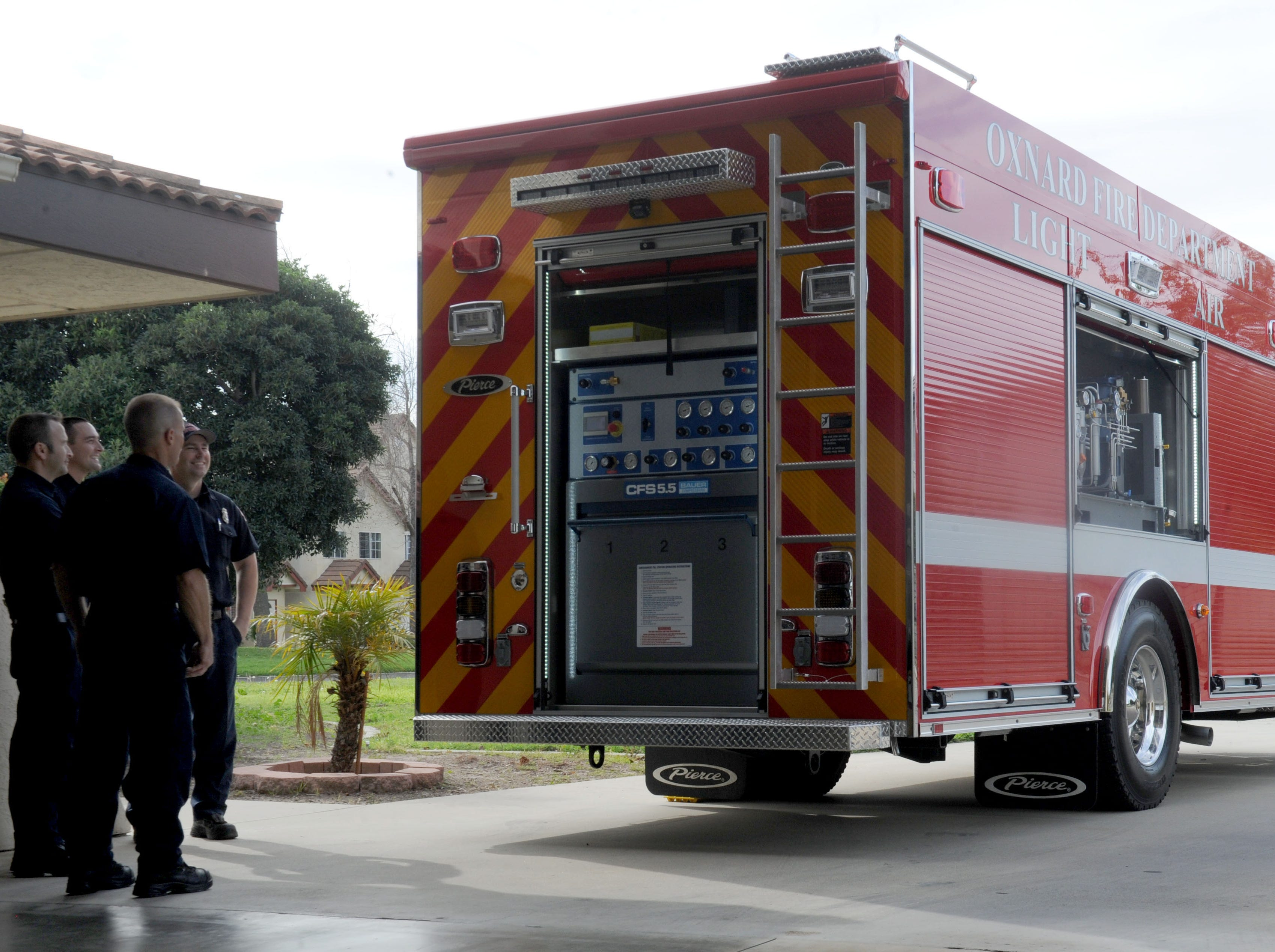 The Oxnard Fire Department's new unit, Light and Air 65, is based at Fire Station No. 5.