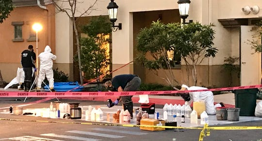 An Oxnard man was arrested Tuesday on suspicion of manufacturing drugs after a suspected drug lab was found in the boiler room of the Goleta hotel where he worked, authorities said.