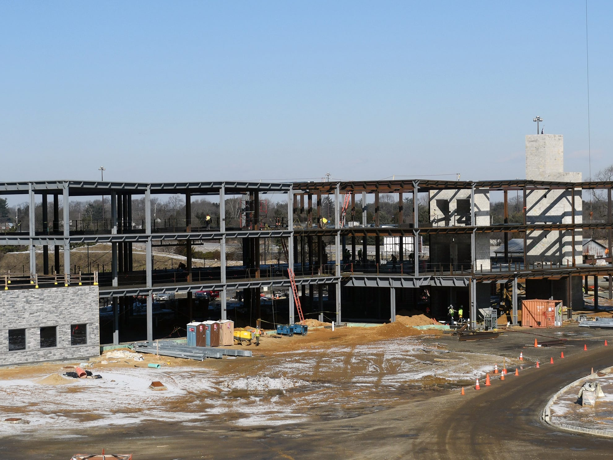 Construction continues on Inspira Medical Center Mullica Hill on Wednesday, Jan. 30, 2019.
