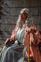 Debra Hansen rehearses for Visalia Players production of Grey Gardens at the Ice House Theater on Tuesday, January 29, 2019.