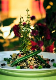 "Look for ""Inner Fuel,"" a vegan and gluten-free dish made with organic quinoa, black beans, caramelized onions, tomatoes, green beans and fermented lemon with coconut-lime sauce on the La Talaye menu."