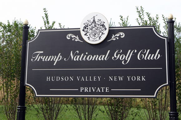 A sign at the Trump National Golf Club in Hopewell Junction photographed Sept. 29, 2010.