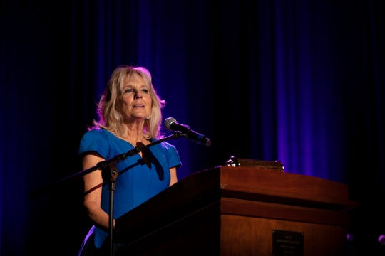 Former second lady Jill Biden introduces the Grand Medal for Excellence in the Performing Arts honoree Tatiana Copeland during The Grand Gala late last year.