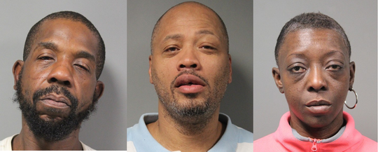 Joseph Bradley, Stanley Stanford and Sherelle Morris were arrested Tuesday during a drug investigation at a Dover apartment building.