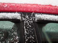 A quick dusting of snow hit Wilmington Wednesday afternoon.