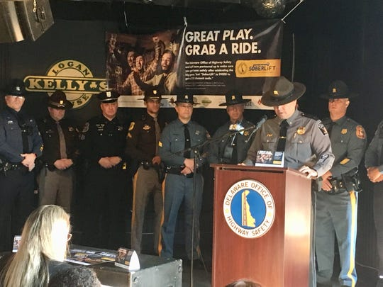State, county and police officials on Wednesday announced discount vouchers will be available for Lyft rides this weekend as part of an effort to keep drunk drivers off the road on Super Bowl weekend.
