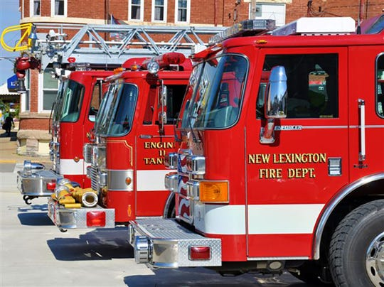 New Lexington Fire Department trucks.