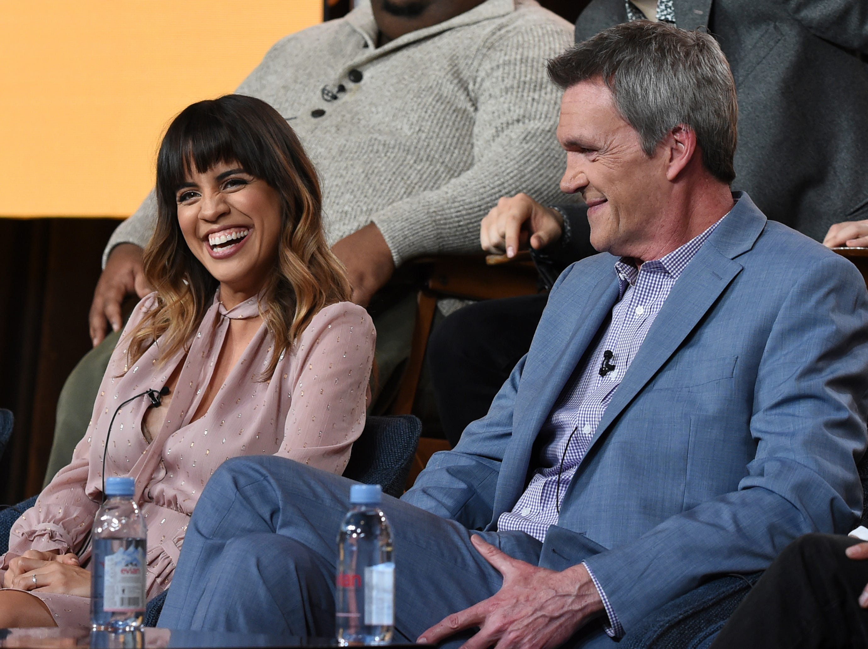 """Natalie Morales and Neil Flynn were on hand to promote their new series,  """"Abby's"""" on NBC."""