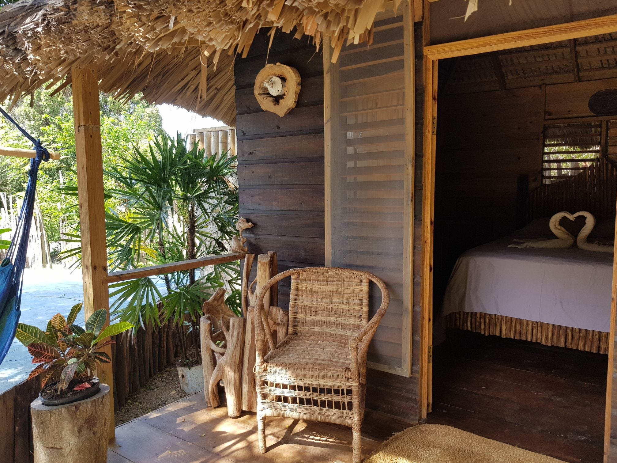 A private room at a cabin in Jamaica