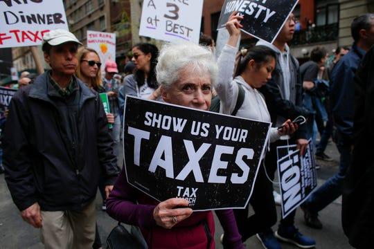 Protest in 2017 in New York.